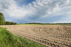 Landwirtschaftliche Landschaft, gepflogenes Feld Lizenzfreie Stockbilder