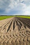 Landwirtschaftliche Landschaft, gepflogenes Feld Lizenzfreie Stockfotografie