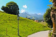 Landwirtschaftliche Landschaft, Gruyere Lizenzfreie Stockfotografie