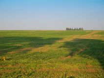 Landwirtschaftliche Landschaft im Herbst Lizenzfreies Stockbild