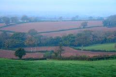 Landwirtschaftliche Landschaft im Herbst Lizenzfreies Stockfoto