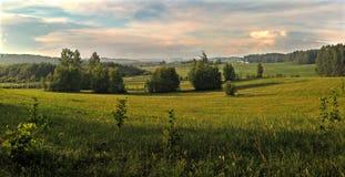 Landwirtschaftliche Landschaft. Panorama. Lizenzfreie Stockfotos