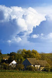 Landwirtschaftliche Landschaft in Polen Stockfotos