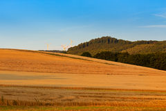 Landwirtschaftliche Landschaft Rheinland-Pfalz, Deutschland Stockbild