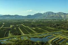 Landwirtschaftliche Landschaft in Süd-Kroatien Lizenzfreies Stockbild