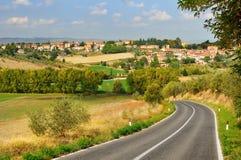 Landwirtschaftliche Landschaft in Toskana Stockfotografie