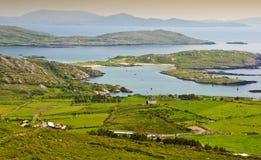 Landwirtschaftliche Landschaft vom Ring Kerry Irland Stockbilder