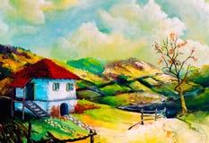 Landwirtschaftliche Landschaften der Fantasie Lizenzfreies Stockbild