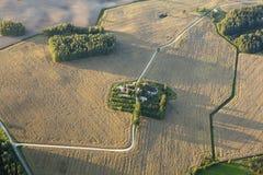 Landwirtschaftliche, Luftaufnahme Lizenzfreies Stockbild