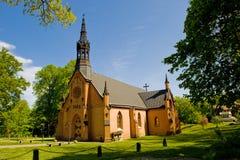 Landwirtschaftliche lutherische Kirche in Schweden Stockbilder