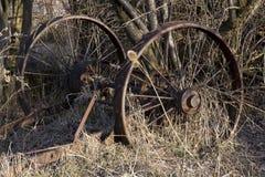 Landwirtschaftliche Maschinen begraben in der Zeit Lizenzfreie Stockfotografie