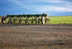 Landwirtschaftliche Maschinen des Landwirts Stockbild