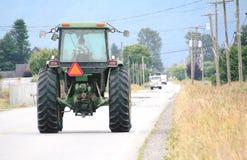 Landwirtschaftliche Maschinen und Sicherheits-Ablenker Stockfotografie