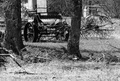 Landwirtschaftliche Maschinen von der Vergangenheit stockbild