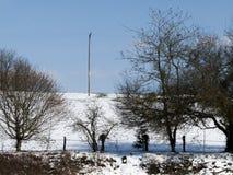 Landwirtschaftliche Schnee-Szene Stockbilder