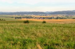 Landwirtschaftliche Sommerlandschaft Lizenzfreies Stockbild