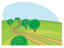 Landwirtschaftliche Straße lizenzfreie abbildung