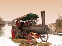 Landwirtschaftliche Szene des Dampfmotors Lizenzfreie Stockfotografie