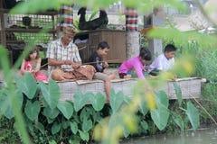 Landwirtschaftliche Tätigkeiten Permaculture-Erfahrungen bei Desa Visesa Lizenzfreies Stockbild