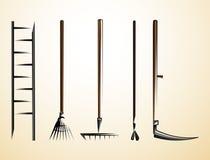 Landwirtschaftliche Werkzeuge 2 Stock Abbildung