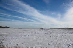 Landwirtschaftliche Winterlandschaft Stockfotografie