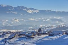 Landwirtschaftliche Winterlandschaft Lizenzfreies Stockfoto