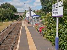 Landwirtschaftlicher Bahnhof in Devon Großbritannien Stockbilder