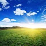 Landwirtschaftlicher Morgen Stockfoto