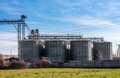 Landwirtschaftlicher Silo draußen Lizenzfreie Stockfotos