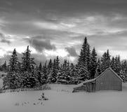 Landwirtschaftliches Alaska im Winter Stockbild