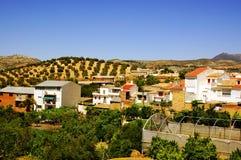 Landwirtschaftliches Dorf in Andalusien, Spanien Lizenzfreie Stockbilder