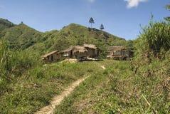 Landwirtschaftliches Dorf - Mindanao, Philippinen lizenzfreie stockbilder