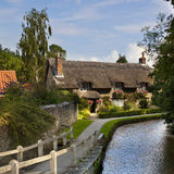 Landwirtschaftliches England-- Yorkshire-Dorf - Großbritannien Stockbild