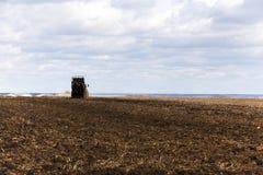 Landwirtschaftliches Feld des Düngemittels Stockfotos