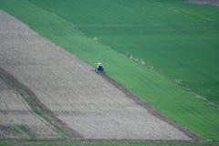 Landwirtschaftliches Feld von der Luft Lizenzfreie Stockbilder
