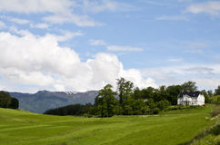 Landwirtschaftliches lanscape von Norwegen Lizenzfreies Stockbild