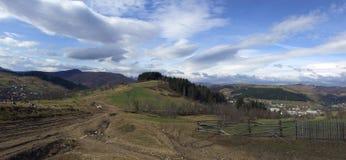 Landwirtschaftliches Panorama Stockfotos