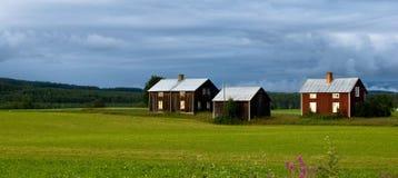 Landwirtschaftliches Schweden Stockbild