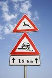 Landwirtschaftliches Verkehrsschild innen Europa Lizenzfreies Stockfoto