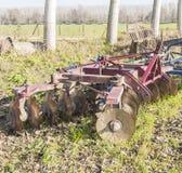 Landwirtschaftliches Werkzeug, Scheibenegge Stockfotografie