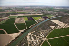 Landwirtschafts-Antenne Lizenzfreies Stockfoto
