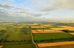 LANDWIRTSCHAFTS-LAND VOM HIMMEL IN DEUTSCHLAND Lizenzfreies Stockfoto