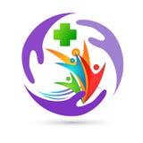 LANDWIRTSCHAFTSfamiliengesundheitsumwelt Wellnesskonzeptlogoikonenelement-Zeichens der medizinischen Behandlung der Natur kreativ lizenzfreie abbildung