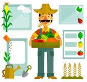 Landwirtschaftsgraphiken stock abbildung