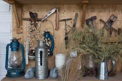 Landwirtschaftshintergrund im Landhausstil Lizenzfreie Stockfotografie