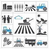 Landwirtschaftsikonen Stockfotos