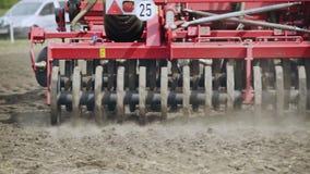 Landwirtschaftsmaschinerieteile Landwirtschaftsmaschinerie Landwirtschaftliche Technologie stock footage