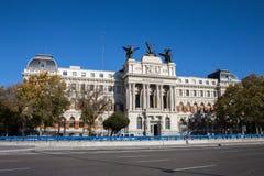 Landwirtschaftsministeriumgebäude in Atocha, Madrid Lizenzfreie Stockfotos