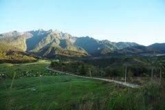 Landwirtschaftstal nahe Kinabalu-Berg Stockbilder