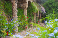 Lane. In the Park Guell; Spain Royalty Free Stock Photo